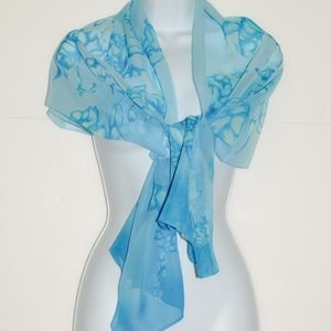 Accessories - Blue Floral Women Scarf